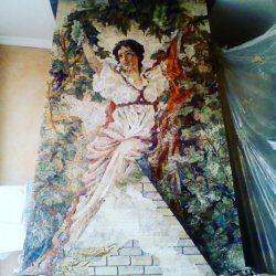 Handgefertigtes Bild aus Mosaik