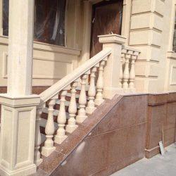 Außentreppe mit Granit und Travertin verkleidet Wir messen, produzieren, liefern und montieren